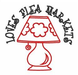 Flea Market Table Lamp embroidery design