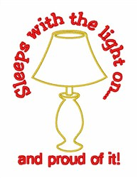 Bedroom Table Lamp embroidery design