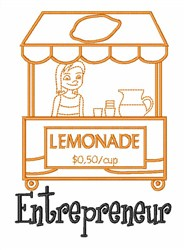 Lemonade Entrepreneur embroidery design