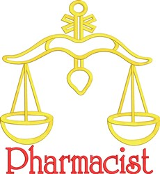 Pharmacist Rx Pharmacy Scale embroidery design