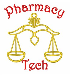 Pharmacy Tech embroidery design