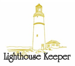 Lighthouse Keeper embroidery design