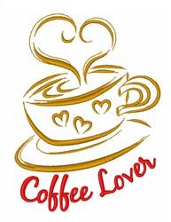 Espresso Coffee Cup embroidery design