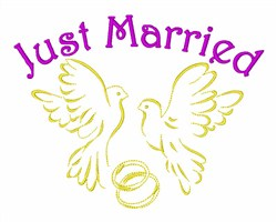 Pigeons Just Married embroidery design