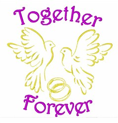 Pigeons Together Forever embroidery design