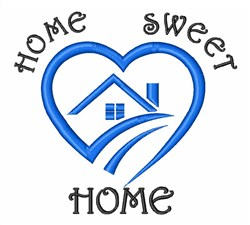 Love Heart Sweet Home embroidery design