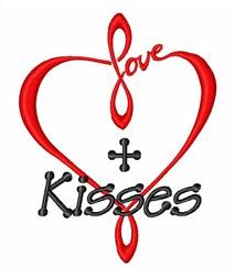 Eternal Love Kisses Heart embroidery design