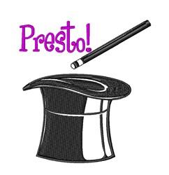 Magician Hat Presto! embroidery design
