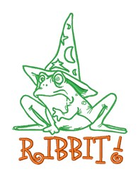 Ribbit Frog Prince embroidery design