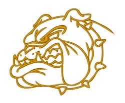 Military Bulldog embroidery design