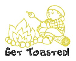 Get Toasted Marshmallow embroidery design