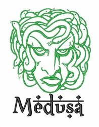 Medusa Head embroidery design