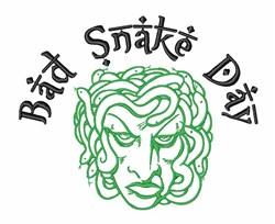 Medusa Bad Snake Day embroidery design