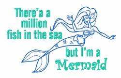 Ocean Mermaid Sea embroidery design