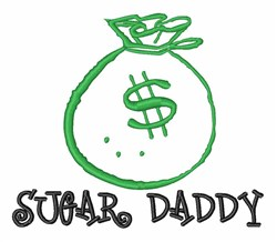 Money Bag Sugar Dad embroidery design