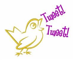 Song Bird Tweet embroidery design