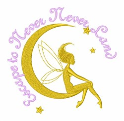 Never Never Land Fairy embroidery design
