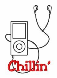 Chillin Earphones embroidery design