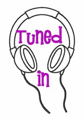 Music Earbuds Earphone embroidery design