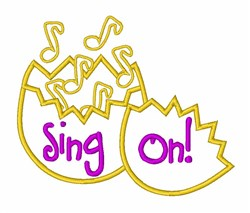 Music Notes Sing On! embroidery design