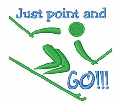 Point & Go Skiing embroidery design