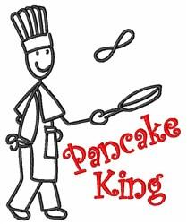 Pancake King embroidery design