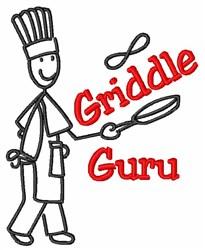 Pancake Griddle Guru embroidery design