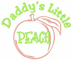 Georgia Peach Fruit embroidery design