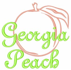 Georgia Peach Fruit embroidery design