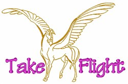 Take Flight Pegasus embroidery design