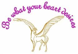 Pegasus Magic embroidery design