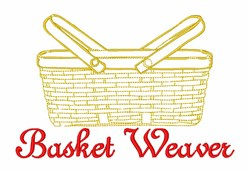 Basket Weaver embroidery design
