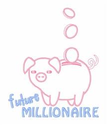 Future Millionaire embroidery design