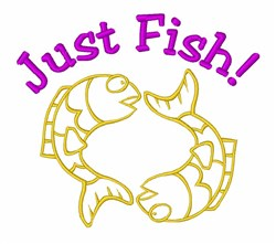 Pisces Fish Animal embroidery design
