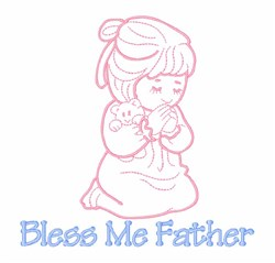 Bless Me Father embroidery design