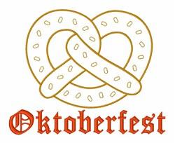 Oktoberfest Pretzel embroidery design