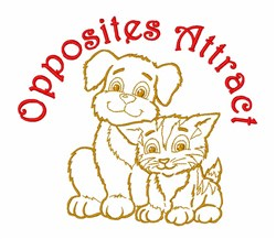 Opposites Attract embroidery design