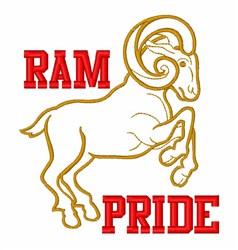 Tough Ram Animal embroidery design