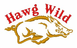 Hawg Wild embroidery design