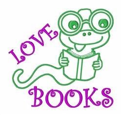 Love Books embroidery design