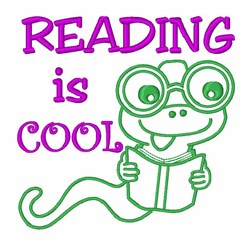Reading Is Cool embroidery design
