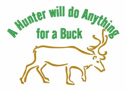 Deer Hunter Wildlife embroidery design