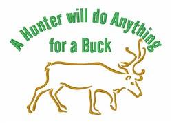 Deer Hunter Wildlife embroidery design