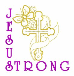 Easter Christian Cross embroidery design