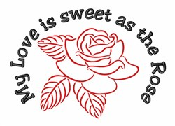 Red Rose Valentine embroidery design
