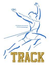 Track Runner Athlete Winning embroidery design