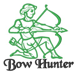 Bow Hunter embroidery design