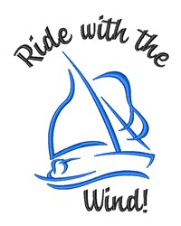 Ride With The Wind! embroidery design