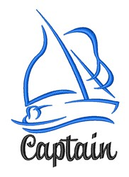 Sailboat Captain embroidery design