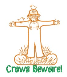 Fall Friend Scarecrow embroidery design